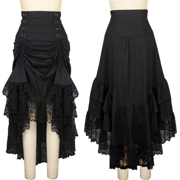 002ce15583 Victorian Steampunk Clothing Ruffle Skirt Gothic